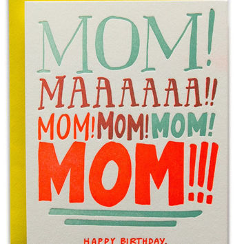 Mom Yelling Card