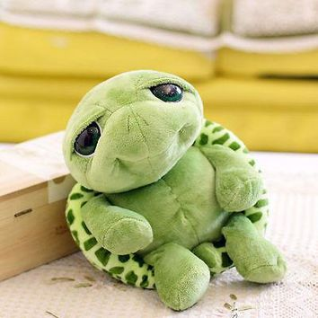 20cm Green Big Eyes Stuffed Tortoise Turtle Animal Plush Baby Toy Gift