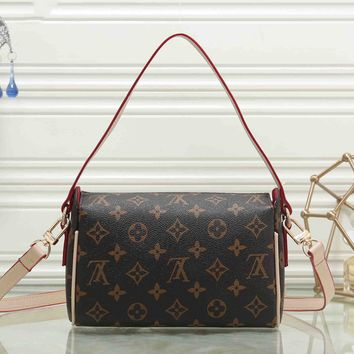 LV Louis Vuitton Women Shopping Leather Satchel Shoulder Bag Handbag Crossbody I-MYJSY-BB
