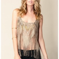 Show Me Your Mumu Pocahontas Fringe Top