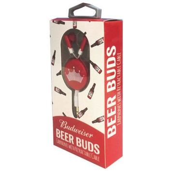 Budweiser Beer Buds Earphones with Retractable Cable ( Case of 12 )