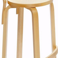 K65 High Chair with Natural Lacquered Frame
