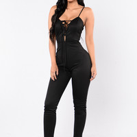 Jump To It Jumpsuit - Black