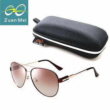 Zuan Mei Luxury quality Polarized Sunglasses Women Brand Designer Aviation Glasses Women Vintage Sun Glasses For Women R2878