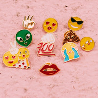 Emoji Face Pin set