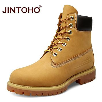 High Quality Genuine Leather Men Winter Shoes Leather Work Safety Boots Fashion Work & Safety Shoes Rubber Male Boots