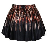 Sword Printed Mini Skirt