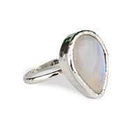 Rainbow Moonstone Stacker Ring