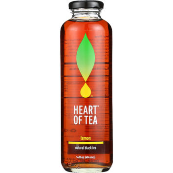 Heart Of Tea Tea - Iced - Natural Black - Lemon - 14 oz - case of 12