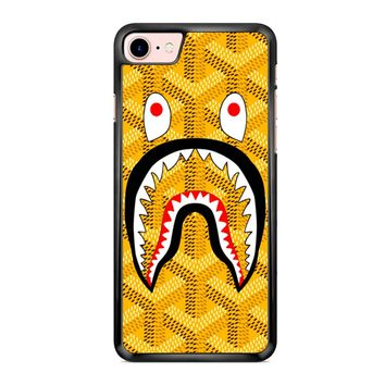 Goyard Bape Shark Yellow iPhone 7 Case