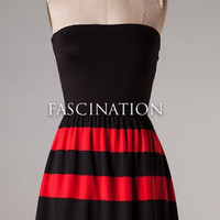 Team Pride Striped Dress - Red and Black