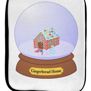 Little Gingerbread House Snow Globe 9 x 11.5 Tablet  Sleeve by TooLoud