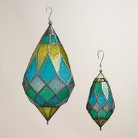Cool Multicolor Hexagon Teardrop Hanging Lantern