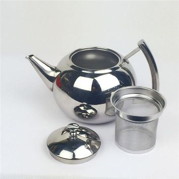 ONETOW Stainless steel thickening liner tea pot Large canisters coffee pot teapot water kettle