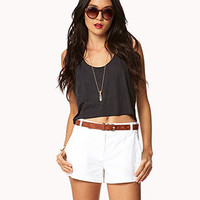 Essential Twill Shorts | FOREVER 21 - 2022804971