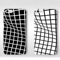 Unique Twisted Grid Pattern Silicone iPhone 7 7Plus & iPhone 6s 6 Plus Cases  + Free Gift Box