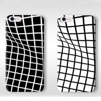 Unique Twisted Grid Pattern Silicone iPhone X 8 7 7Plus & iPhone 6s 6 Plus Cases  + Free Gift Box