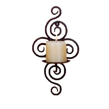Hot ing Iron Candle Holder Sconce Hanging Wall Art Candlestick For Decoration Weddings
