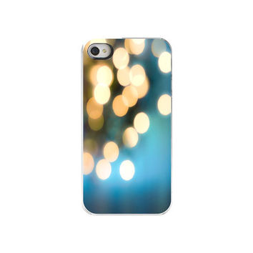 IphoneCase Cobalt Blue Gold Bokeh Iphone by Maddenphotography