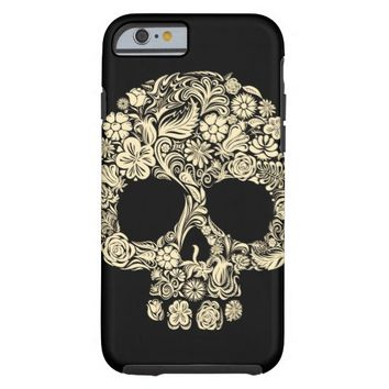 Vintage Floral Sugar Skull Tough iPhone 6 Case