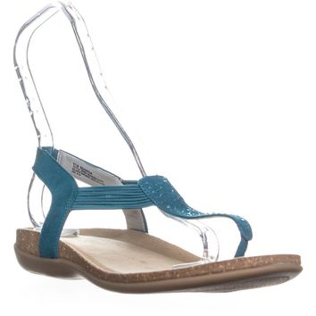 Bandolino Honour Rhinestone Slip On Sandals, Blue Green, 8 US