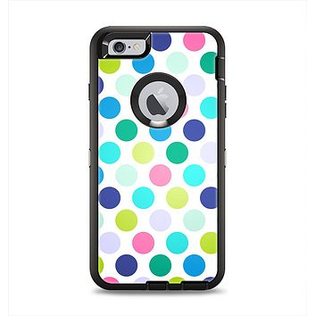 The Vibrant Colored Polka Dot V1 Apple iPhone 6 Plus Otterbox Defender Case Skin Set