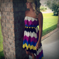 RESTOCK Marco Island Bight Chevron Tube Dress