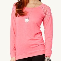 Lace Inset Pullover