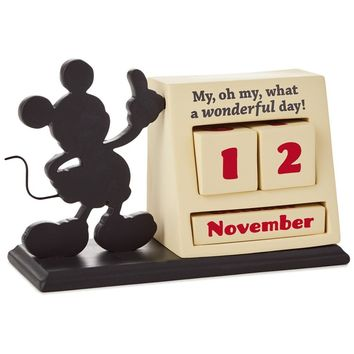 Hallmark Disney Mickey Mouse Resin Perpetual Calendar New