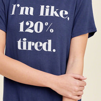 Attitude Graphic Sleep Tee