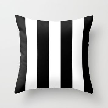 #15 Lines Throw Pillow by Minimalist Forms