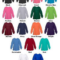 GIRL'S YOUTH Spirit Jersey made for you!  You choose the color and text! Sizes S (6-8) M (10-12) L (14-16)