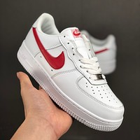 Nike Air Force 1 07 Low White Red Casual Shoes - Best Deal Online