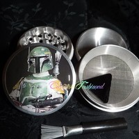 Star Wars Boba Fett Scene 4 Piece Herb Grinder Pollen Screen and Catcher from Cognitive Fashioned