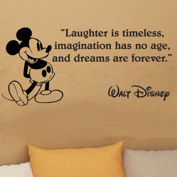 Disney Mickey Mouse Laughter is timeless vinyl wall art decal sticker quote