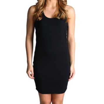 Black Piko Racerback Nightgown