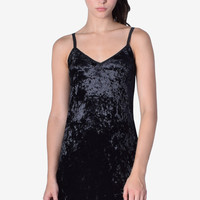 Velvet Thunder Slip Dress