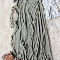Mineral Wrap Maxi Skirt in Sage