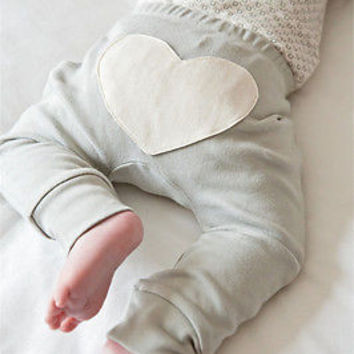Toddler Infant Baby Boy Girl Clothes Pants Cute Heart Love Pattern Cotton Bottom Pink Pants Casual Loose 6 12 18 24 Monthes