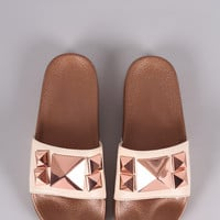 Shoe Republic LA Studded Slide Sandal