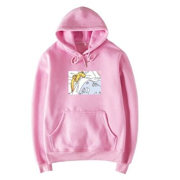 2018 New Women Hoodies Japanese Sailor Moon Printed Pullover  Sweatshirt