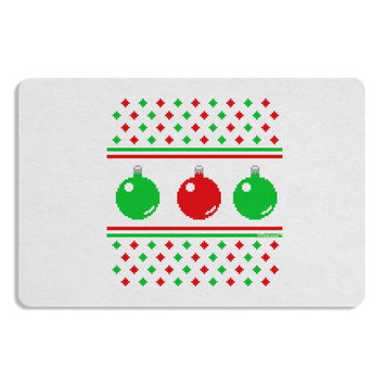 Ugly Christmas Sweater Ornaments Placemat