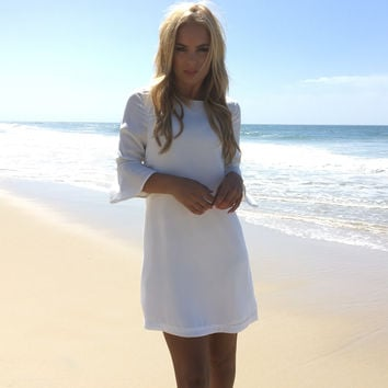 Ring My Bell Dress In White