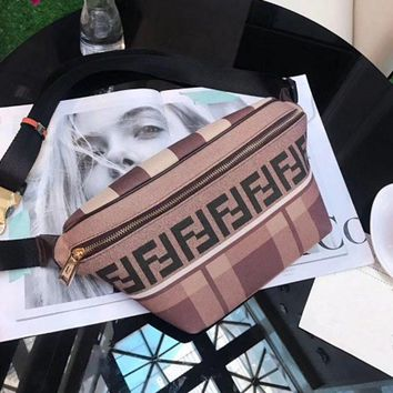 FENDI FF Canvas Belt bag