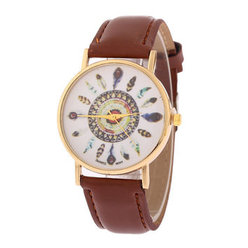 Cute Exotic Ethnic Feather Watch