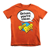 """Driver You're Clear"" kids tee from Never Not Clever"