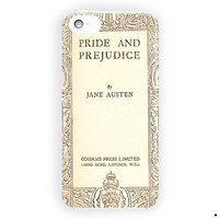 Book Cover Jane Austen Fashion History For iPhone 5 / 5S / 5C Case