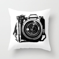 Camera Throw Pillow by Luisa Mähringer