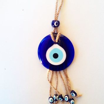 Evil eye wall hanging - evil eye charm - Turkish evil eye -evil eye décor - nazar boncuk