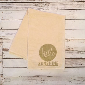 Hello Sunshine // Shabby Chic // Kitchen Towel